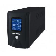 Qoltec Zasilacz awaryjny UPS 600VA 360W LCD